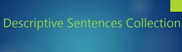 Descriptive Sentences Collection