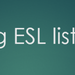 Listening Lexis for ESL Exam