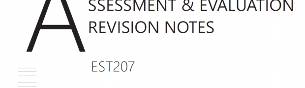 Assessment & Evaluation Revision Notes