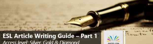 Article Writing Guide - Part 1